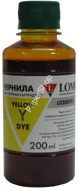 Чернила LOMOND LE08-001Y Yellow, 100мл, код 0205657