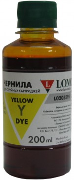 Чернила LOMOND LE08-002Y Yellow, 200мл, код 0205658