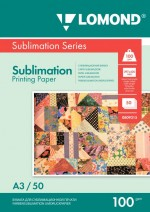 Бумага для сублимационной печати Lomond 100г/м, А3/50 листов, код 0809315