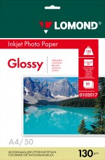 Бумага Lomond 130 г/м, глянец, А4 50л. Код 0102017